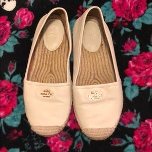 Coach leather espadrilles, Women's 8.5